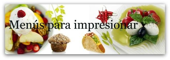 menus para impresionar, cabecera con leyenda